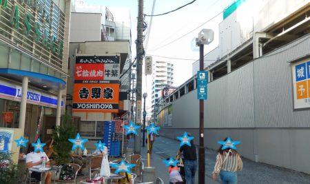町田駅線路沿い